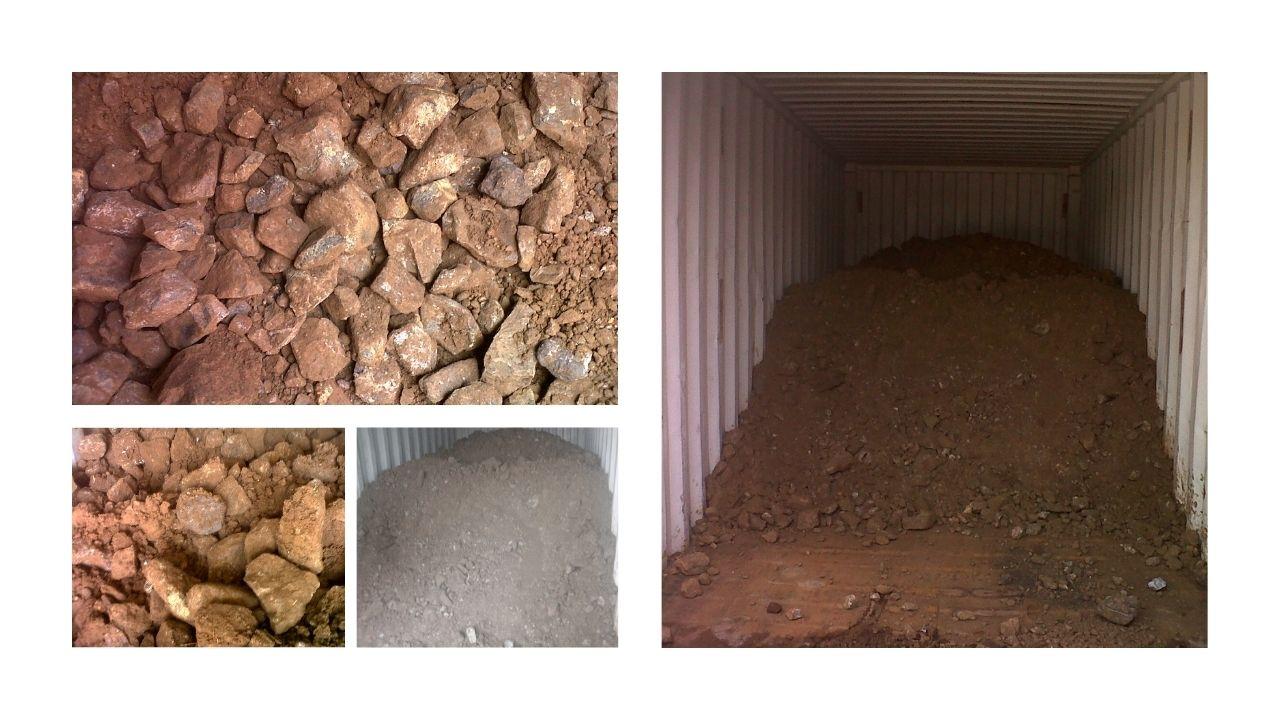 Bea Cukai Priok 6 : Bongkahan Batu bercampur tanah (Biji Krom Jenis Chromite) 5 Container 20feet